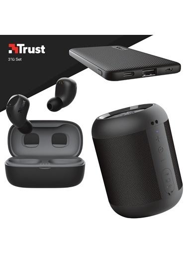 Trust Trust Nika Compact Siyah Bluetooth Kulaklık ve Siyah Powerbankli 3'lü Hediye Seti Renkli